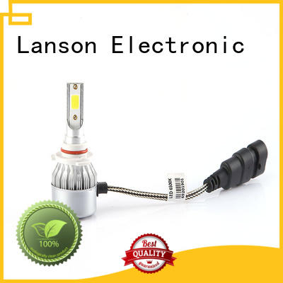 Lanson dual color c6 led headlight h1 customized for van