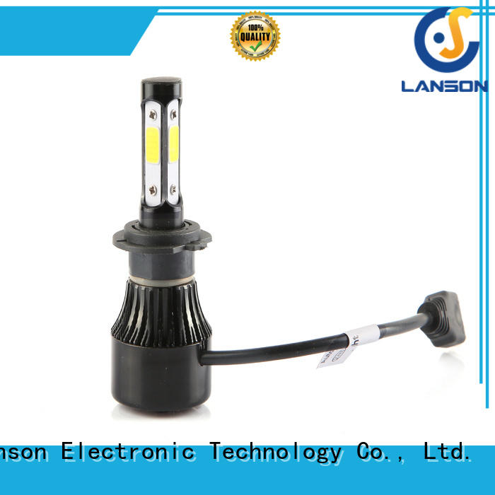 Lanson popular led headlight c6 h4 manufacturer foir lorry