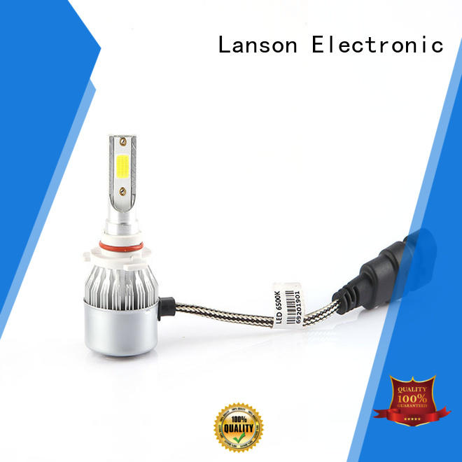 Lanson auto c6 led headlight h4 design for truck